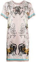 Roberto Cavalli Hybrid Animals printed dress