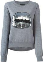 Markus Lupfer sequinned lips appliqué sweater