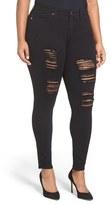 Good American Women's Good Legs Destroyed Skinny Jeans