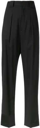 Bambah High Waisted Pleated Detail Trousers