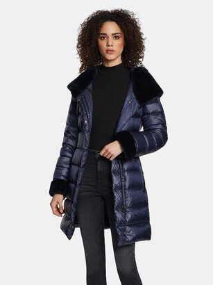 Dawn Levy Eve Gem Cire Fitted Puffer Coat