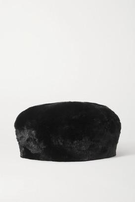 Eugenia Kim Mishka Faux Fur Beret - Black