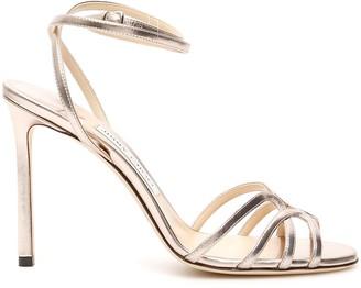 Jimmy Choo Mimi Platinum Sandals