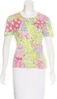 Emilio Pucci Short Sleeve Printed Top