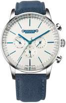 Julius JAH-093 Male Men's Two Tone Swiss Quartz Analog Calendar Waterproof Fashion Blue Leather Watch