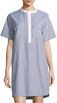 Vince Poplin Striped Shirtdress, Blue/White