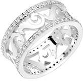Elli PREMIUM Ornament Kristallring Women's Ring 925 Silver Cushion Brilliant Cut Cubic Zirconia White Size 56 (17.8) - 0603621915_56