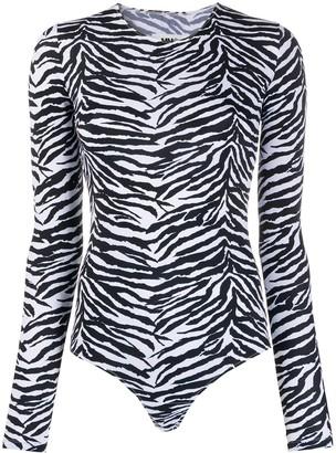 MM6 MAISON MARGIELA Zebra-Print Bodysuit