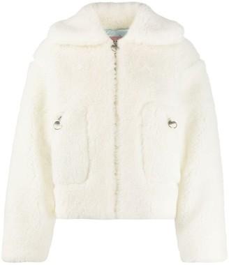 Chiara Ferragni Hooded Shearling Jacket