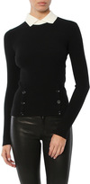 Autumn Cashmere Peter Pan Rib Sweater With Buttons