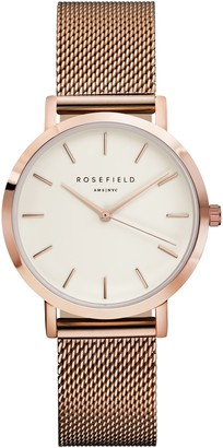 Tribeca Rosefield ROSEFIELD Women's The Mesh Bracelet Strap Watch