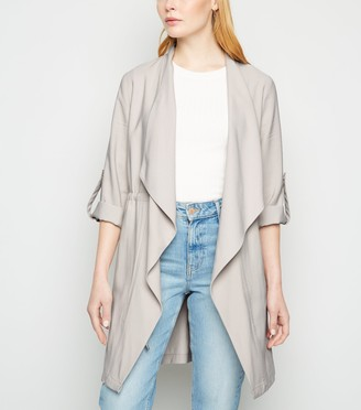 New Look Elasticated Waist Waterfall Duster Jacket
