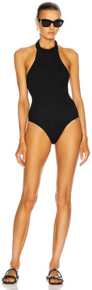Hunza G CJ Swimsuit in Solid Black | FWRD