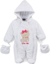 Sweet & Soft White Teddy 'Hug Me' Snowsuit - Infant