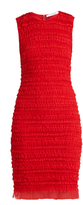 Givenchy Ruffle-trimmed sleeveless tulle pencil dress