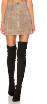 BB Dakota Jack By Callister Faux Suede Mini Skirt