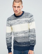 Pepe Jeans Pepe Stripe Knit Jumper Wide Ombre Blue
