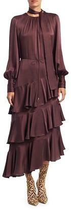 Zimmermann Eye Spy Tiered Silk Dress