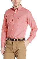 Dockers Long-Sleeve No-Wrinkle Mini Check Button-Down Collar Shirt