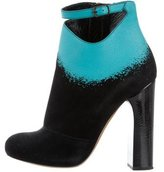 Nicholas Kirkwood Round-Toe Suede Ankle Boots