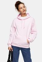 Topshop Pink Everyday Hoodie