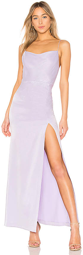 Alice + Olivia Diana Cowl Neck Gown