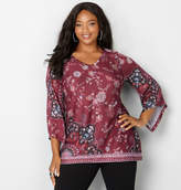 Avenue Floral Top with Kimono Sleeves