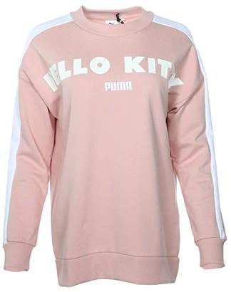 Puma X Hello Kitty Crew (Pink) Women's Clothing
