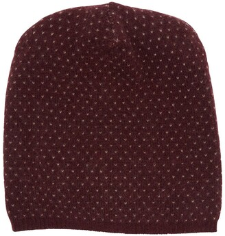 Portolano Slouchy Patterned Cashmere Beanie