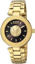 Versus By Versace Women's 'BRICK LANE' Quartz Stainless Steel and Gold Plated Casual Watch(Model: S64040016)