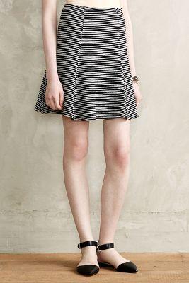 Anthropologie Maeve Striped Skater Skirt