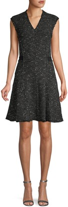 Rebecca Taylor Fringe-Trimmed Mini Dress