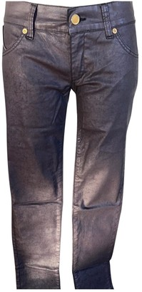 Superfine Brown Cotton Trousers for Women Vintage