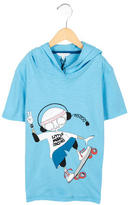 Little Marc Jacobs Boys' Hooded Graphic Shirt