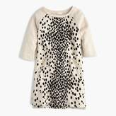 J.Crew Girls' leopard-flocked sweatshirt-dress