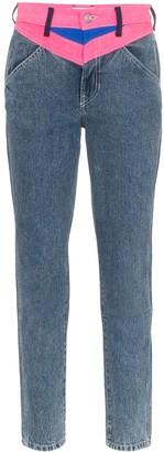 Jordache Contrast Insert Straight-Leg Jeans
