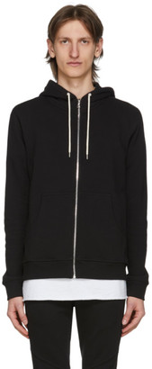 John Elliott Black Flash 2 Full Zip Hoodie