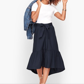 Talbots High/Low Flounce Hem Skirt