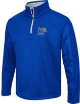 Men's Stadium Memphis Tigers College Embossed Sleet Quarter-Zip Pullover