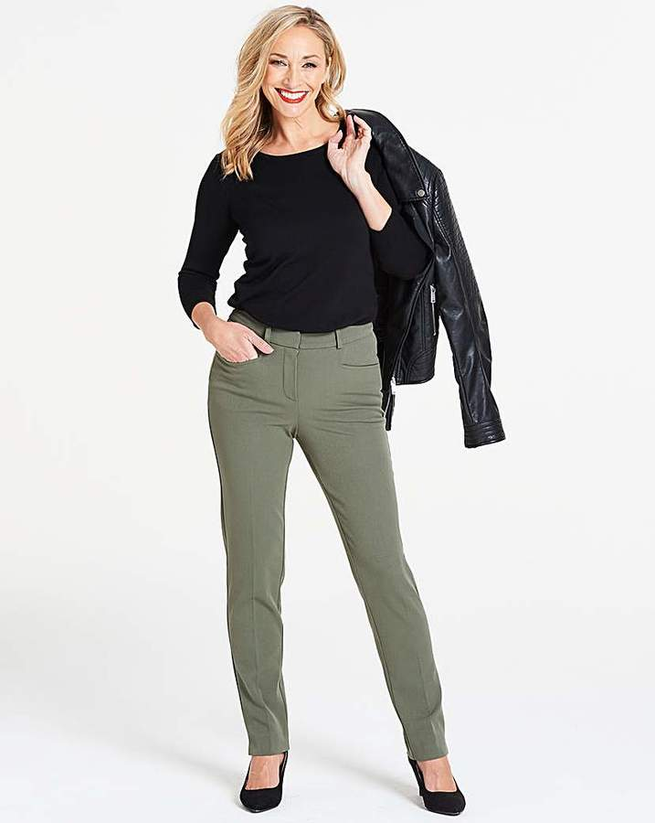 Fashion World Khaki Everyday Kate Slim Leg Trousers