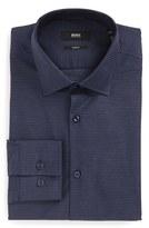 BOSS Slim Fit Houndstooth Dress Shirt