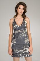 Mangho Printed Charcoal Dress