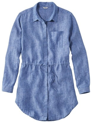 L.L. Bean Women's Premium Washable Linen Drawstring Tunic