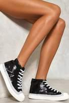Nasty Gal nastygal The Magnificant Dance Sequin Sneaker
