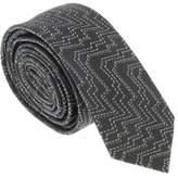 Missoni U5058 Gray/gold Abstract 100% Silk Tie.