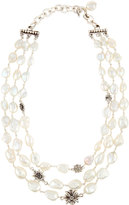 Stephen Dweck Triple-Strand Baroque Keshi Pearl Necklace