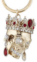 Alexander McQueen Embellished Skull Keychain