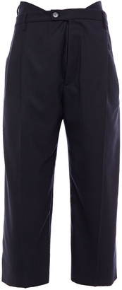 Maison Margiela Cropped Draped Wool-blend Twill Straight-leg Pants