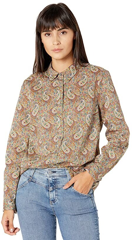 J.Crew Perfect Shirt in Liberty(r) Lee Manor Paisley Print (Olive Multi) Women's Clothing