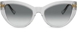 Versace Eyewear Cat Eye Frame Sunglasses